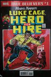 Superhero comic book featuring the black character called Luke Cage, produced by Marvel Comics, and recently made into a TV series. For Netflix royalty free stock image
