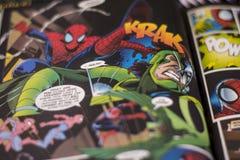 Superhero comics θαύματος σπάιντερμαν Στοκ φωτογραφίες με δικαίωμα ελεύθερης χρήσης