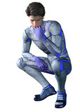 Superhero contemplating Stock Images