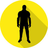 Superhero costume. With flat shadow. Vector Illustration Stock Image