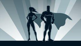 Superhero Couple Loop stock footage