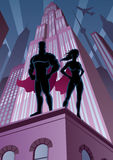 Superhero Couple 5 Stock Images