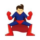 Superhero Crouching Stock Photography