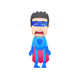 Superhero crying Royalty Free Stock Photography