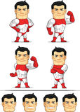 Superhero Customizable Mascot 7 Stock Photos