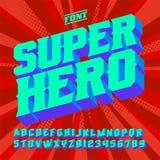 SuperHero 3D uitstekende brieven royalty-vrije stock afbeeldingen