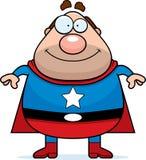 Superhero Dad. A cartoon dad dressed as a superhero Stock Image