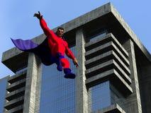 Superhero dans la ville Photos stock