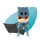Superhero in dark blue costume Royalty Free Stock Photo