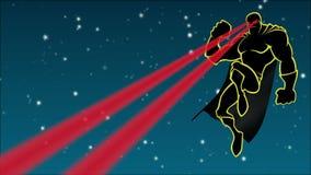 Superhero in de Hemel vector illustratie