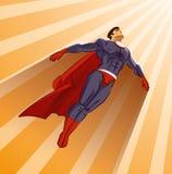 Superhero die omhoog vliegen Stock Foto