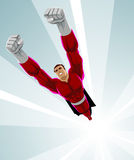 Superhero die omhoog vliegen Royalty-vrije Stock Afbeeldingen