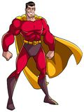 Superhero die zich lang bevinden Stock Afbeelding