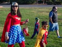 Superhero Duo Stock Image