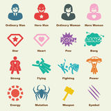 Superhero elements Stock Photography