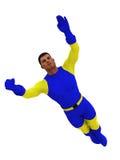 Superhero en vol Photos stock