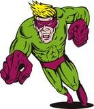 Superhero exécutant vers vous Photos libres de droits