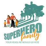 Superhero Family background Stock Image