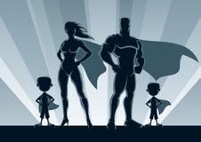 Superhero Family 2 Boys Royalty Free Stock Photos