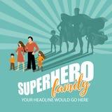 Superhero Family burst background Royalty Free Stock Photography