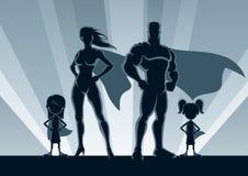 Superhero Family 2 Girls Royalty Free Stock Images
