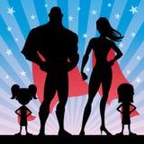 Superhero Family Girls Stock Images