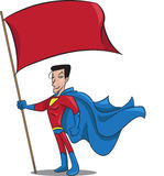 Superhero flag Stock Images