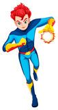 A superhero with a flaming power. Illustration of a superhero with a flaming power on a white background Royalty Free Stock Photo