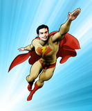 Superhero flying into action Royalty Free Stock Image