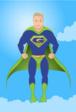 Superhero flying Stock Images