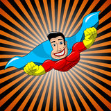 Superhero Flying Royalty Free Stock Image