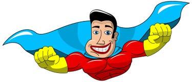 Superhero Flying Isolated Stock Photos