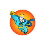Superhero flying logo. Vector illustration Stock Photography