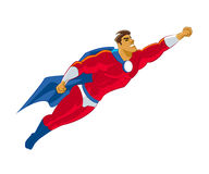 Superhero flying Stock Image