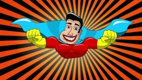 Superhero Flying stock video footage