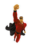 Superhero flying. Strives height. Royalty Free Stock Photo