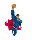 Superhero flying. Strives height.  background Royalty Free Stock Photography