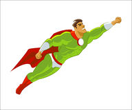 Superhero flying Royalty Free Stock Photos
