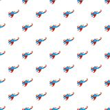 Superhero flying to fight pattern, cartoon style. Superhero flying to fight pattern. Cartoon illustration of superhero flying to fight vector pattern for web Royalty Free Stock Image