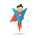 Superhero flying. Vector illustration. Superhero flying. Vector cartoon illustration Stock Images