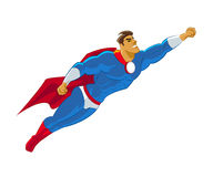Superhero flying Royalty Free Stock Photography