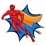 Superhero Flying Vector Illustration Isolated. Cartoon hero vector illustration