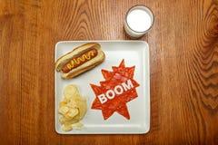 Superhero food, boom Stock Images