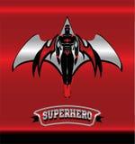 superhero Gevleugelde superhero Gemaskeerde superhero stock illustratie