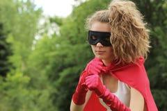 Superhero girl Stock Photography