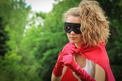 Superhero girl Stock Photography