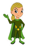 Superhero girl cartoon Royalty Free Stock Photography