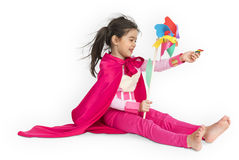 Superhero Girl Child Kid Inspiration Concept Stock Photo
