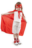Superhero girl in a red Royalty Free Stock Image