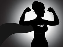 Superhero Girl Silhouette Stock Images